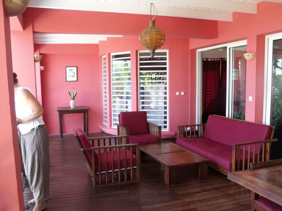 Villas les Orchidees: varangue 1er etage