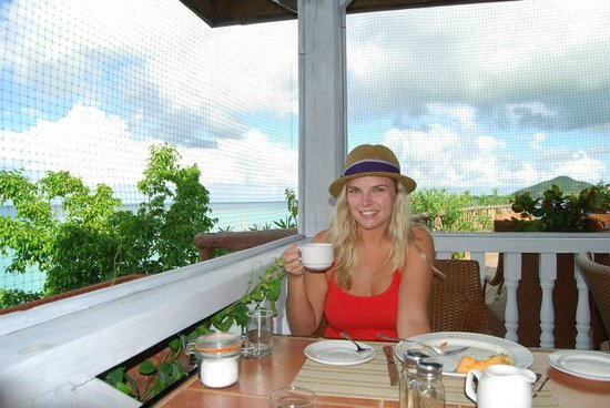 Cocobay Resort: cheers to coffee in the morning and a stellar view