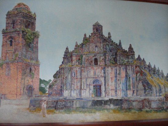 Malacanang Of The North: painting of Paoay Church