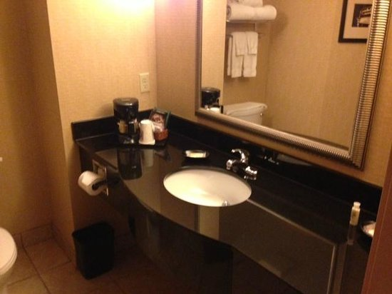 Holiday Inn Fort Wayne-IPFW & Coliseum: Clean bathroom