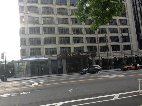 Loews Madison Hotel: The front facade facing 15th Street