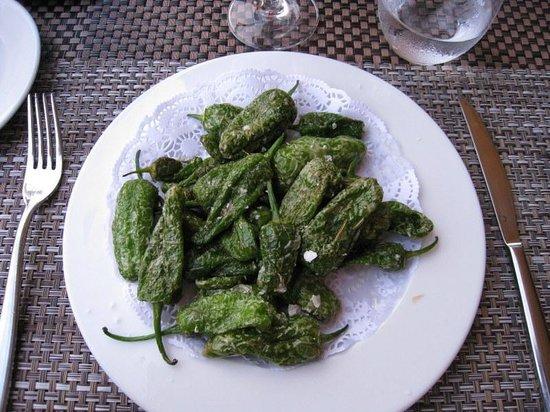 Hotel Restaurant Galena Mas Comangau : Poivrons verts au gros sel