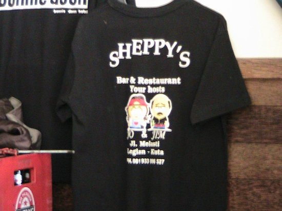 Sheppy`s Bar and Restaurant : SHIRTS FOR SALE