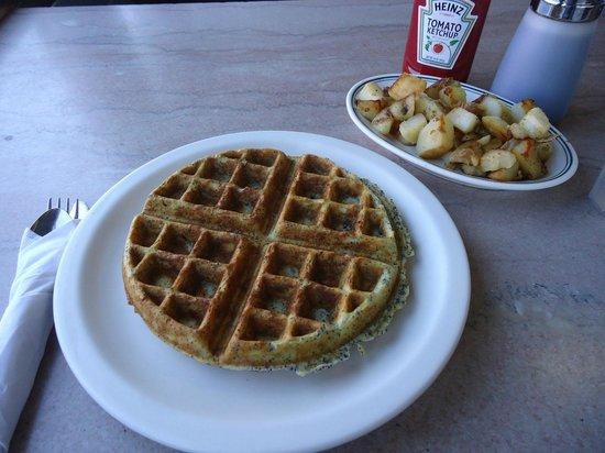 A1 Diner, Orange-Poppy Waffle, Aug 2013