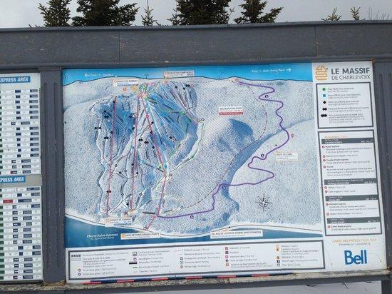 Le Massif de Charlevoix: The map