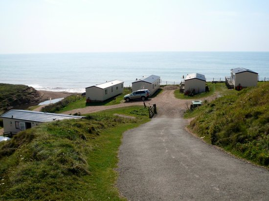 Grange Farm : lane from the camping fields to beach