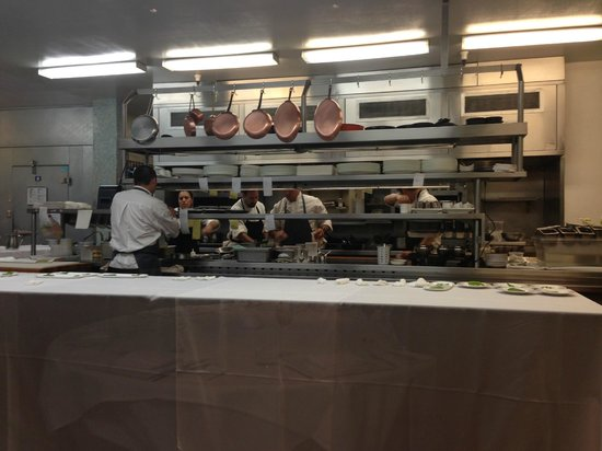 The Plumed Horse: The view of the kitchen from the chef's table