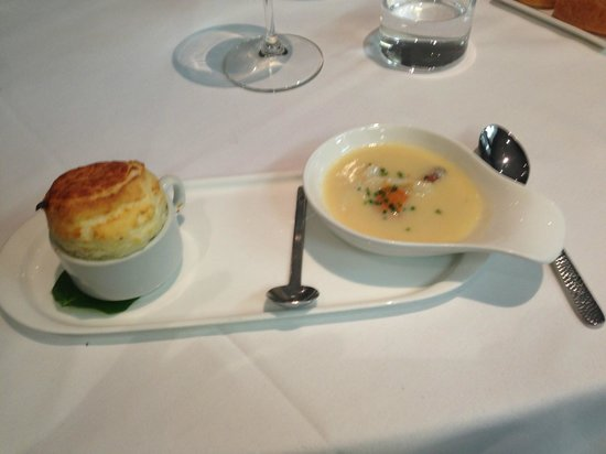The Plumed Horse: Black Pepper & Parmesan Soufflé w/Uni & Dungeness