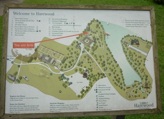 House Garden Map >> Map Of Grounds Picture Of Harewood House Leeds Tripadvisor
