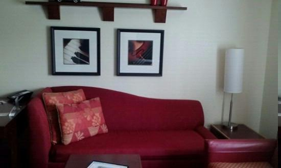 Residence Inn Pittsburgh North Shore: Sofa bed in living area