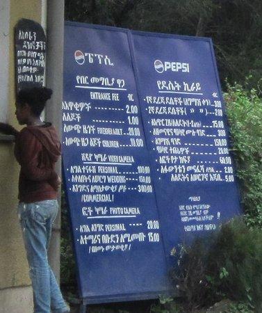 Lion Park: Sign at the park