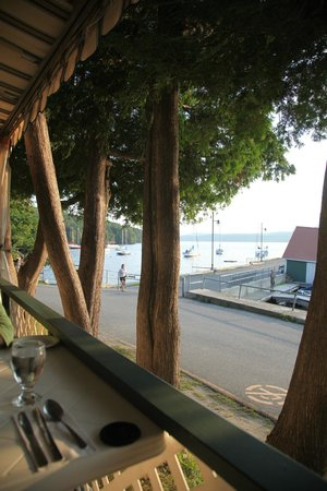 Auberge McGowan: view from the dining terrace