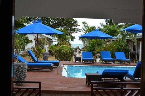 Villas de Mer : Chambre qui donne sur la piscine