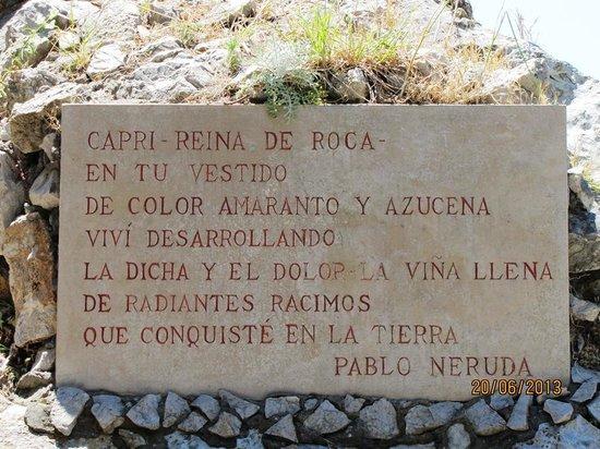 Belvedere di Tragara : poema del gran Neruda