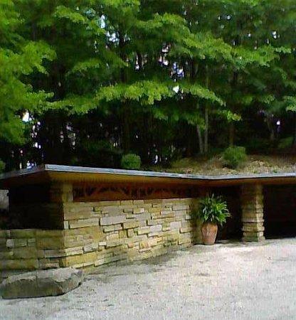 Kentuck Knob: Storage area next to the carport that Mrs. Kaufman used as her art studio