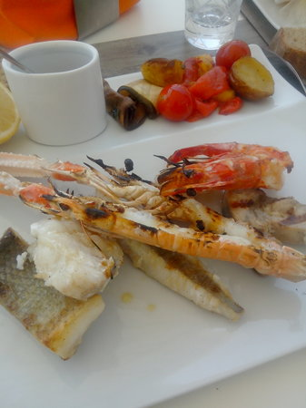 La Plage Casadelmar : Grillade mixte poisson fruit de mer (top)