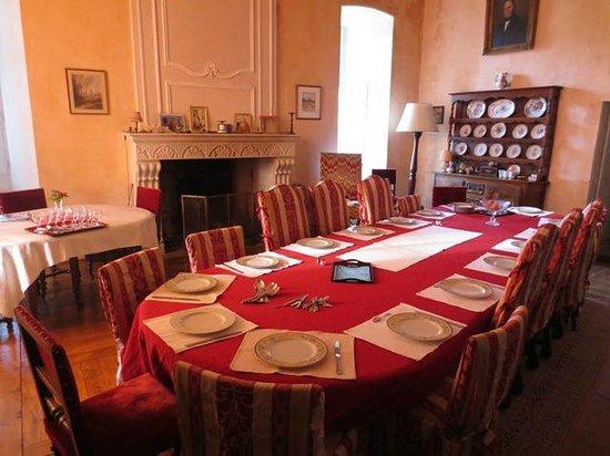 Chateau de la Motte : The Dining room