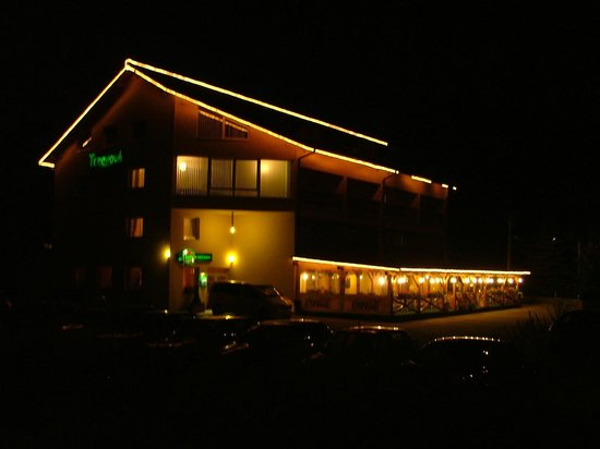 Penzion Terchova: Penzíon v noci (Pension night view)