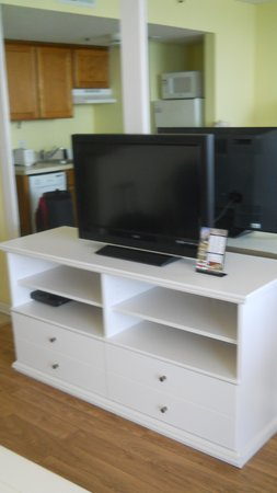 Meridian Plaza : Entertainment Center in the living room (Room 1204)
