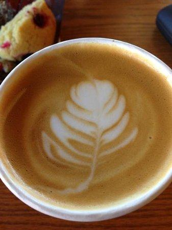 nice latte art but just average coffee