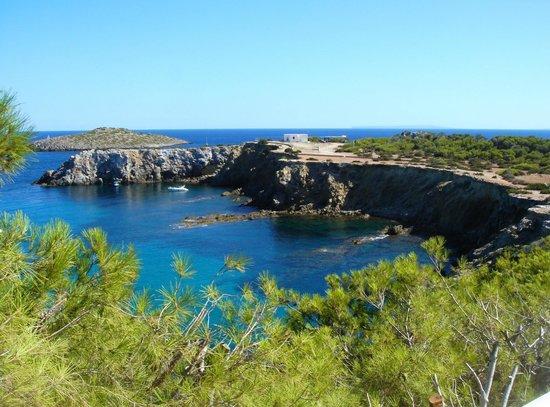 azuLine Club Cala Martina Ibiza: Vista da zona piscine (verso Punta Arabi)