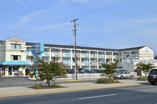 The Atlantic Oceanside Dewey Beach Resort: View from across the street