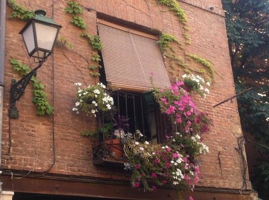 Detalle de balcón en la Calle Mayor