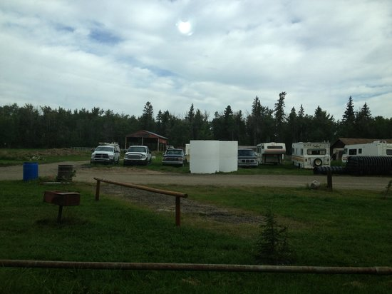 Half Moon Lake Resort: View from our site! We could sit and watch the 'residents' fight an get kicked out from our site