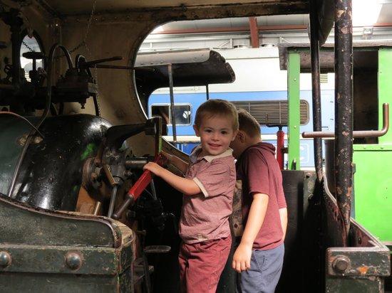 Ribble Steam Railway: Scott driving the engine !