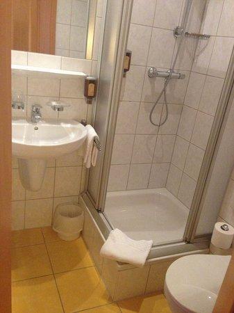 Wohlfühlhotel Rabenhorst: Das kleine Bad.