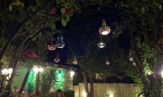 Orchard Restaurant : Gourds hanging from the fruit trees
