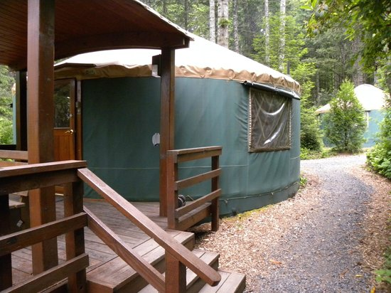 Umpqua lighthouse state park yurts updated 2017 for Oregon state parks yurts and cabins