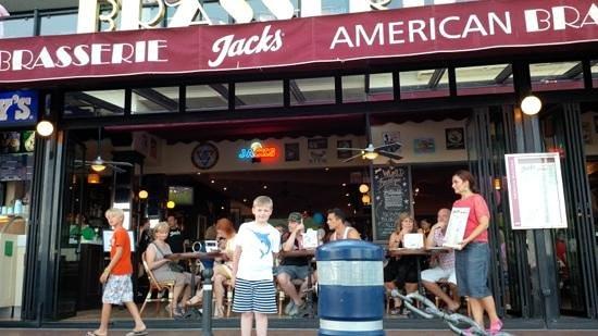 """Jacks Smokehouse: Jack outside """"Jacks"""""""