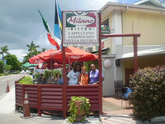 Cafe Milano : The super friendly servers at Milano. They serve THE best pizza! It's my favorite place to eat!