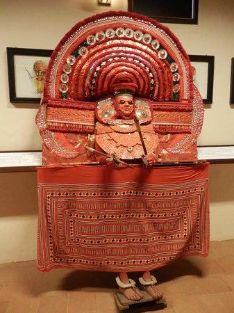 Greenix Village : Museum exhibit - represents Theyyam, traditional temple performer
