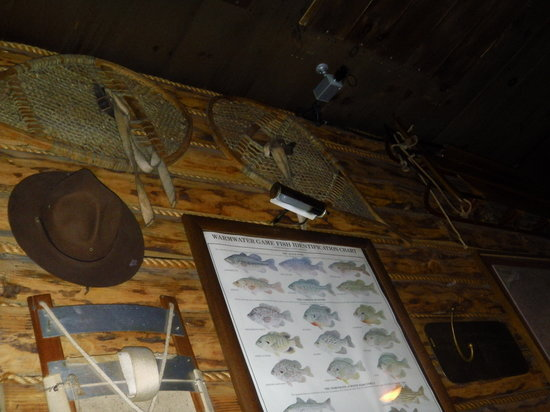 Butcher Block Restaurant: wall