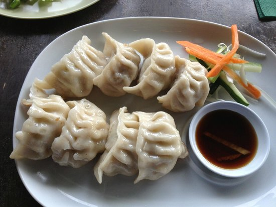 Momo Cafe: pork dumplings