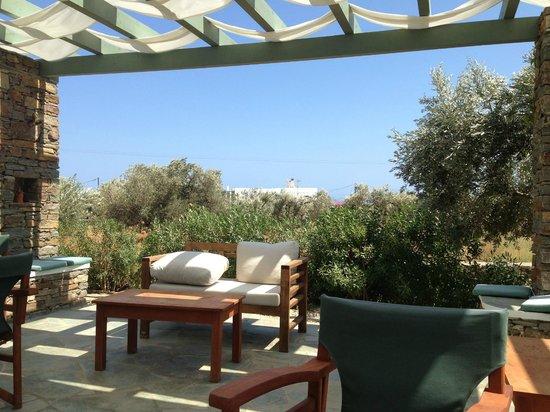Edem Hotel: Terrasse abritée pour la lecture ...