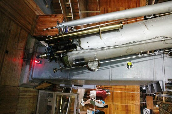 Lowell Observatory: The Clark telescope sideways due to the upload software.