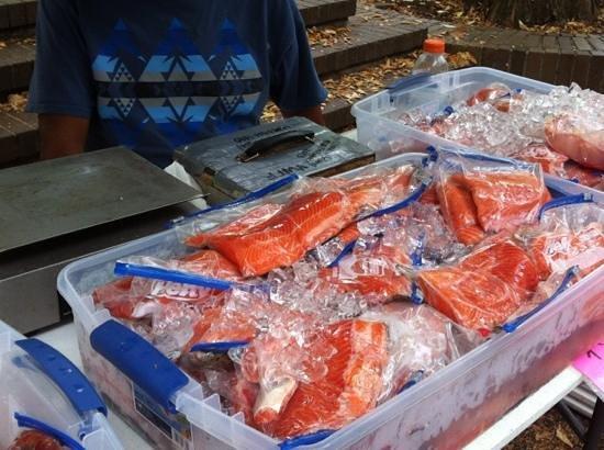 Portland Farmers Market: salmon