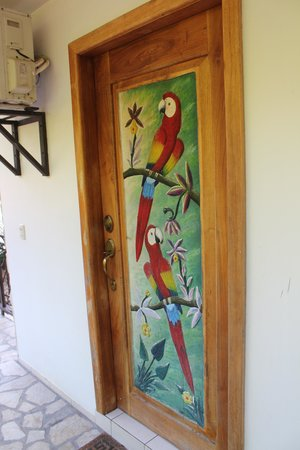 Gingerbread Hotel: Parrot Room Door