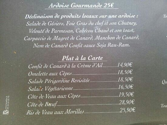 Le vin au 10 : Ardoise Gourmande et Plats à la carte