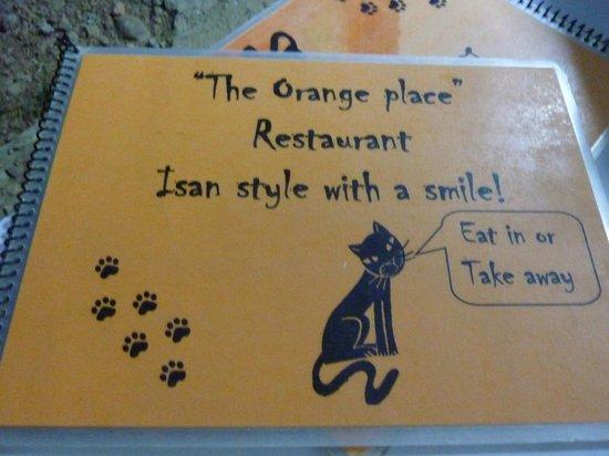Orange Place: la carte du restaurant