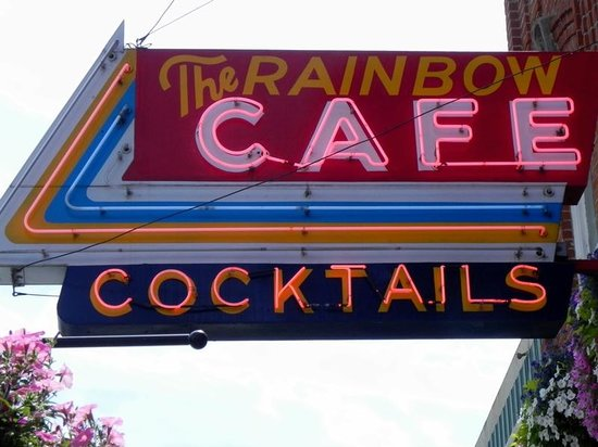 Rainbow Cafe: Front sign