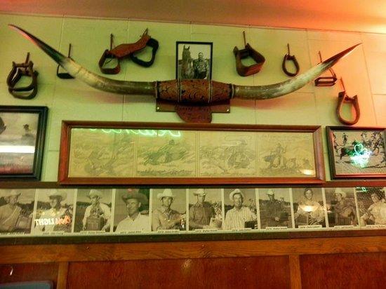 Rainbow Cafe: Cowboy wall