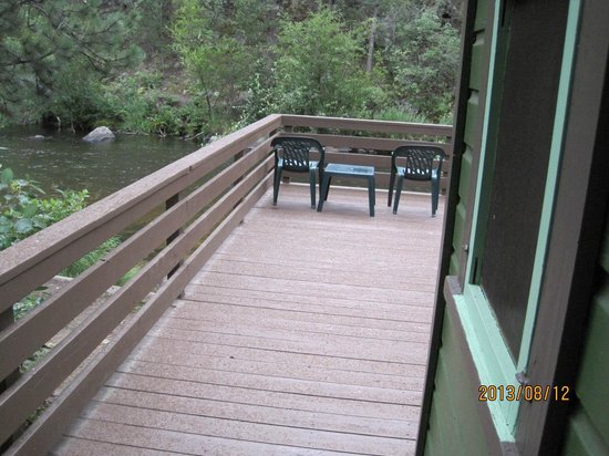 Loveland Heights Cottages: going out to deck from back door.