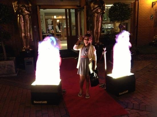 Pinewood Hotel: my daughter loved the 007 themed entrance