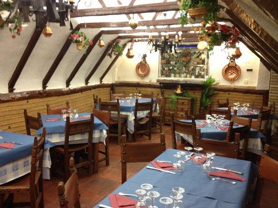 Alex: Inside of the restaurante