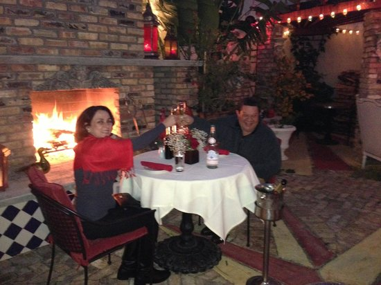 Dinner In The Rouge Garden On A Cool Night March 2017