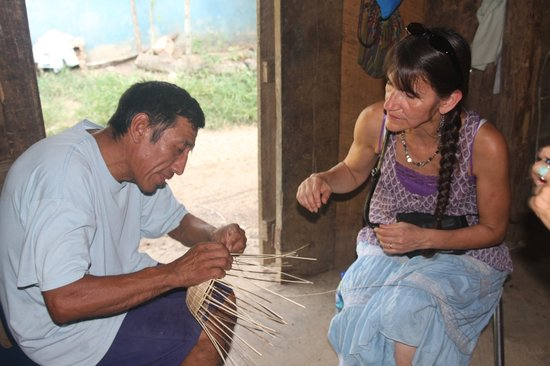 Living Maya Experience: Juan Chiac demonstrates his basket weaving